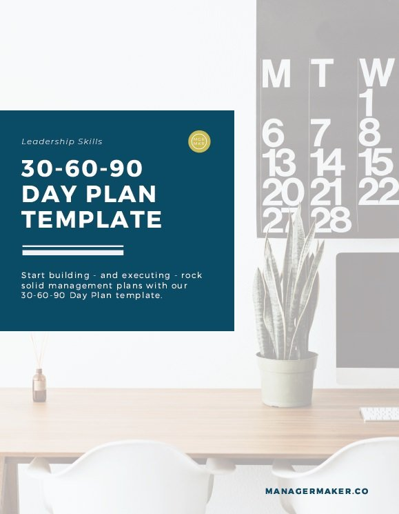 30-60-90 Day Plan Template by ManagerMaker.co