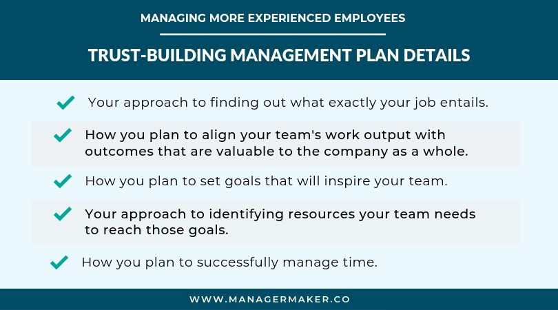 Managing More Experienced Employees - Management Plan Details
