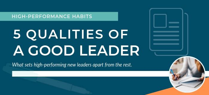 5 Qualities of a Good Leader Banner